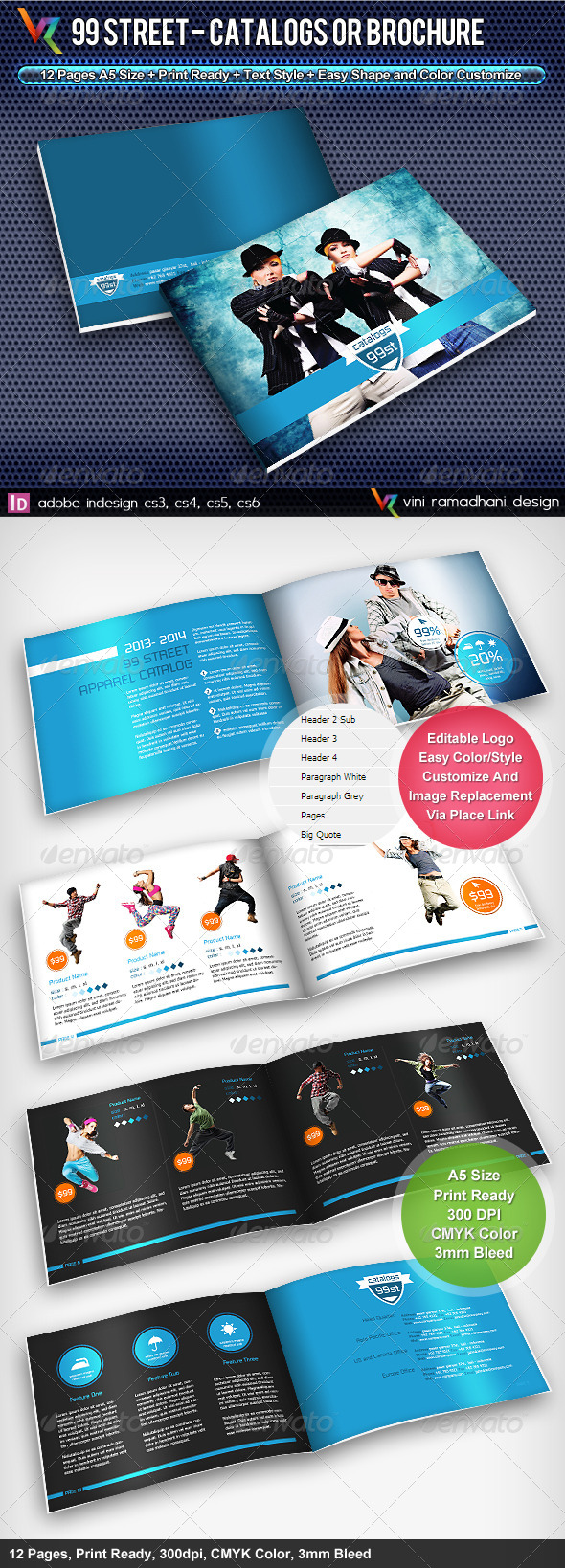 GraphicRiver 99 Street Catalogs Or Brochure