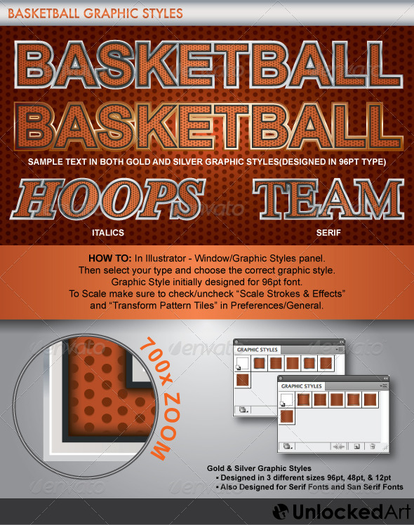 GraphicRiver Basketball Graphic Style 4258372