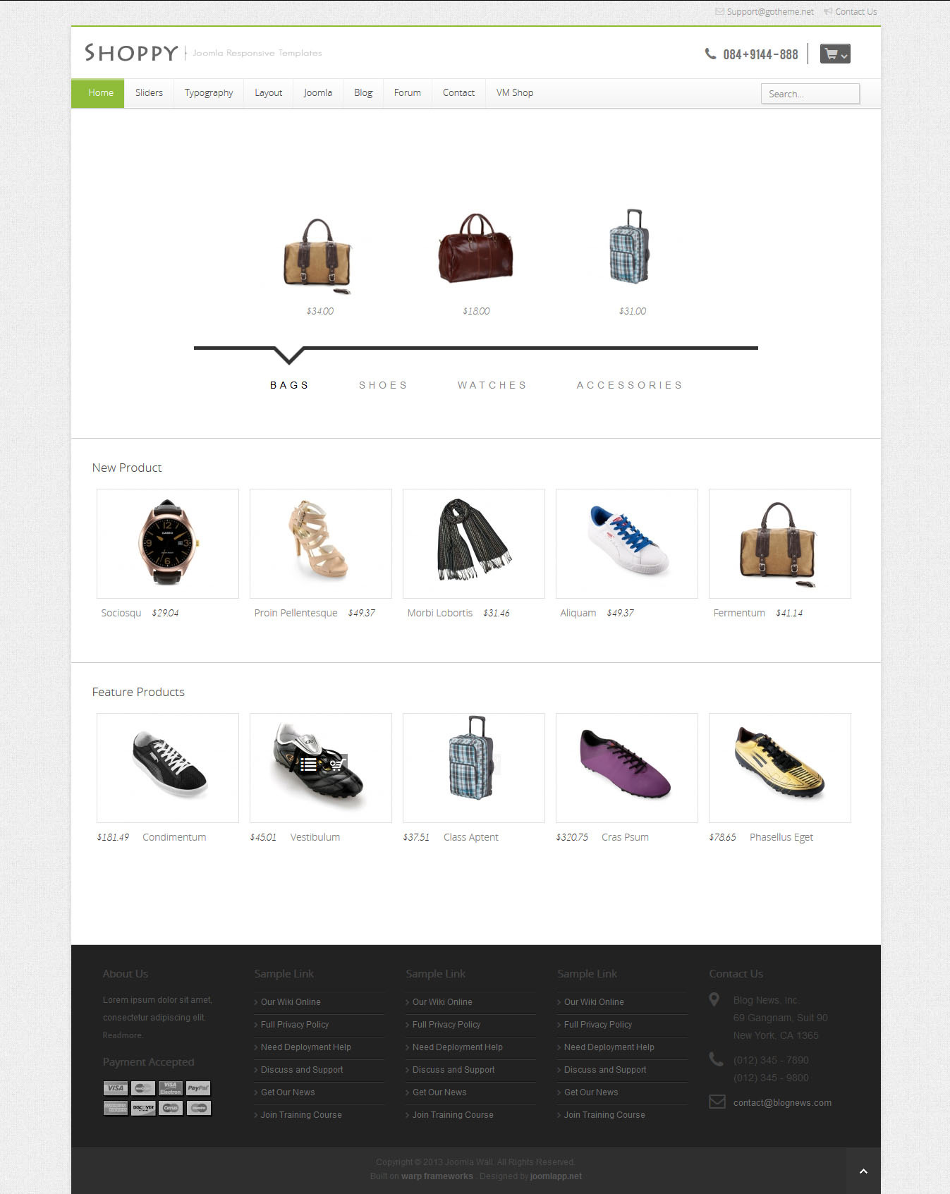 GT04 - Virtuemart Shop - Joomla Responsive Themes
