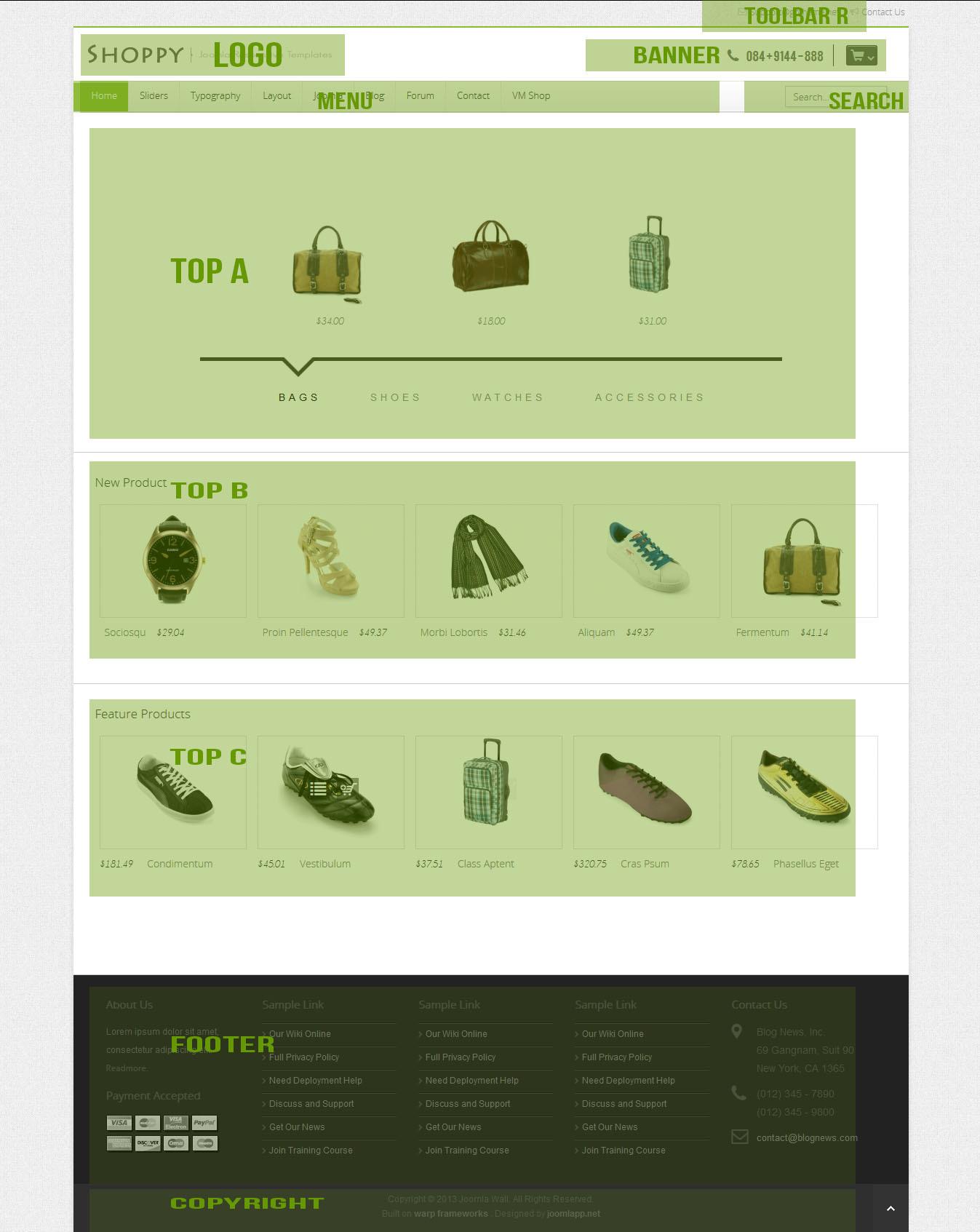 GT04 - Virtuemart Shop - Joomla Responsive Themes