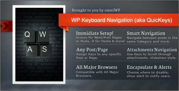 CodeCanyon WP Keyboard Navigation aka QuicKeys 4259426