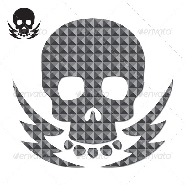 GraphicRiver Skull and Teksture 4259524