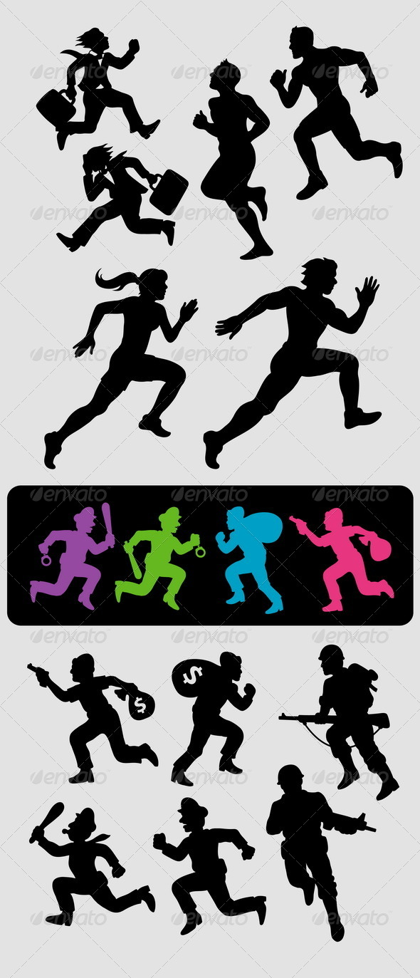 GraphicRiver Running Silhouettes 4259542