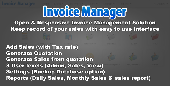 Simple Invoice Manager - CodeCanyon Item for Sale