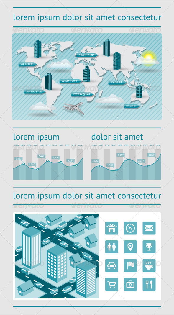 GraphicRiver Infographics and Web Elements 4259688