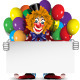 Clown with a Banner and Balloons - GraphicRiver Item for Sale