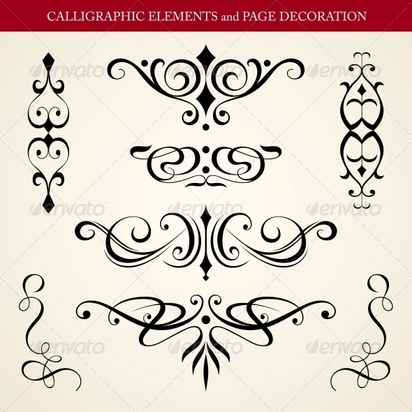 GraphicRiver Calligraphic Elements and Page Decoration 4260951