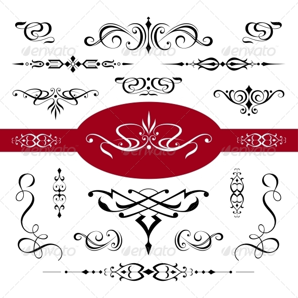 GraphicRiver Calligraphic Elements and Page Decoration 4260956