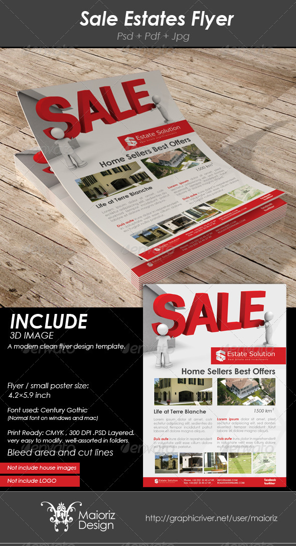 GraphicRiver Sale Estates Flyer 4075651