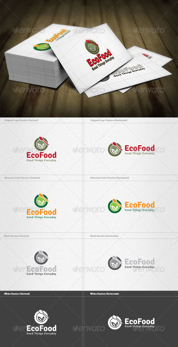 GraphicRiver Eco Food Logo 4262013