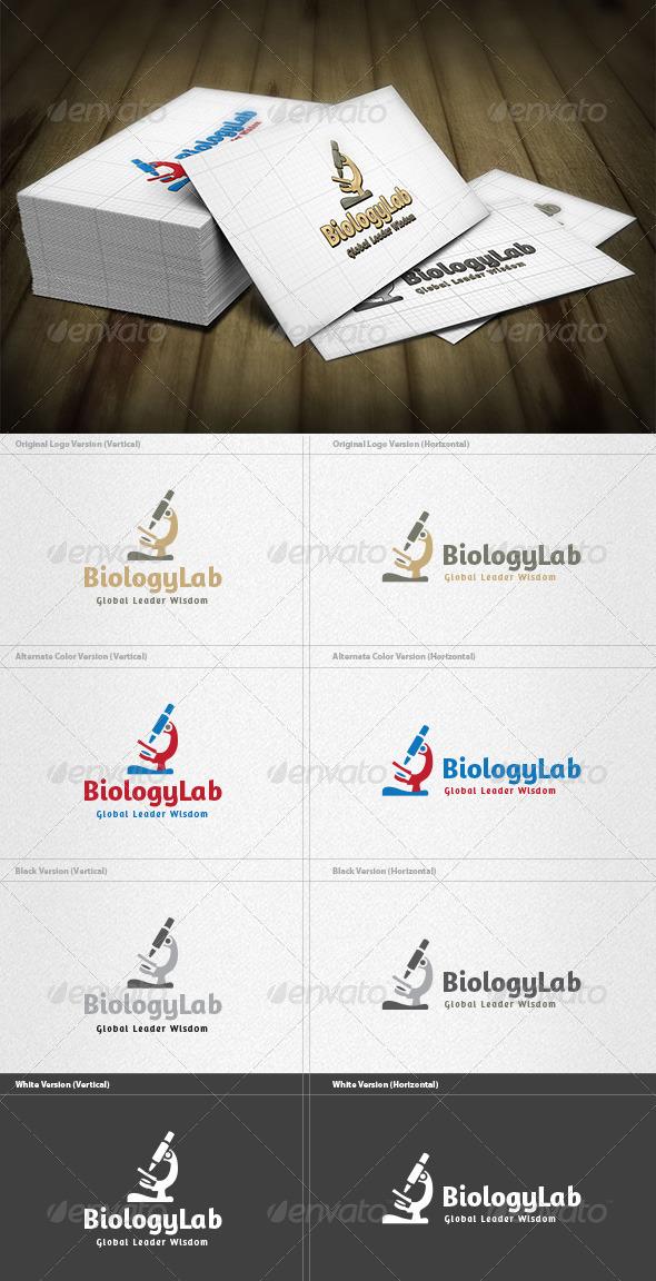 GraphicRiver Biology Lab Logo 4262076