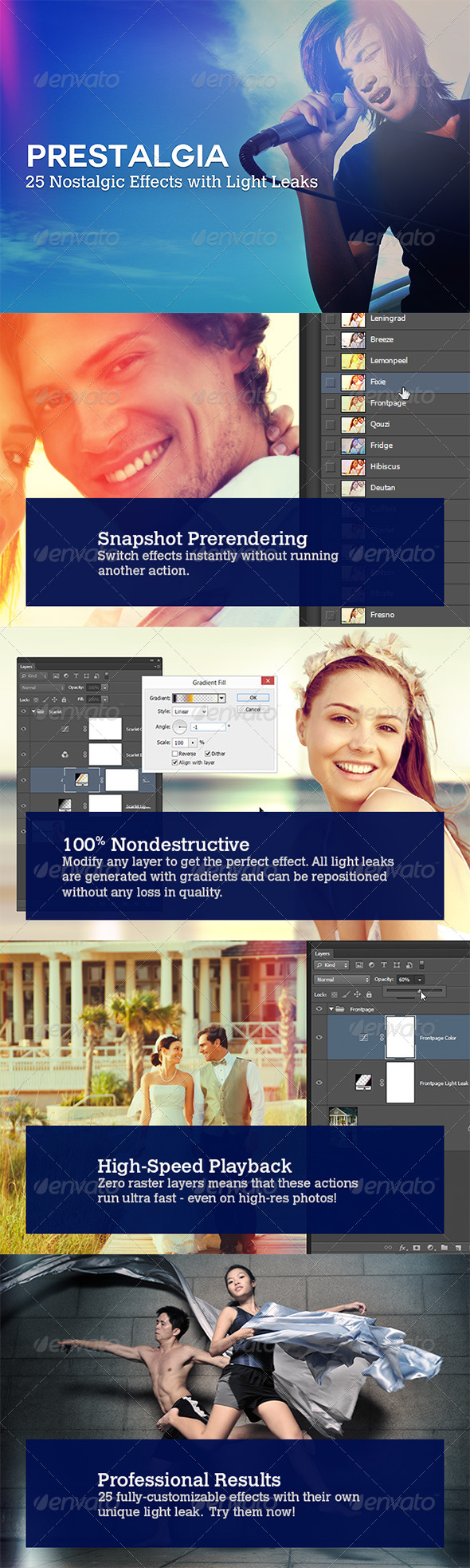 GraphicRiver Prestalgia 25 Retro Effects with Light Leaks 4262079