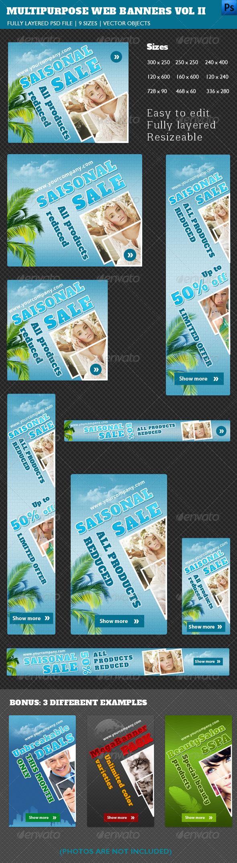 GraphicRiver Multipurpose Web Banners Vol II 4262107