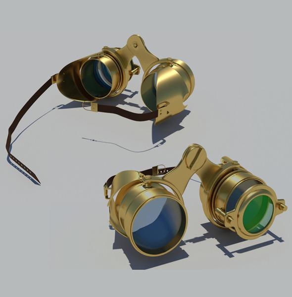 3DOcean Steampunk Goggles 4262187
