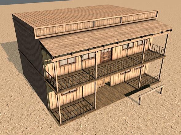 Western Building - 3DOcean Item for Sale