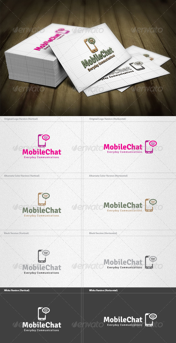 GraphicRiver Mobile Chat Logo 4262717