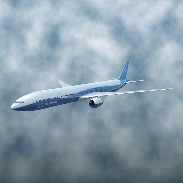 Boeing 777-300ER commercial airplane - 3DOcean Item for Sale