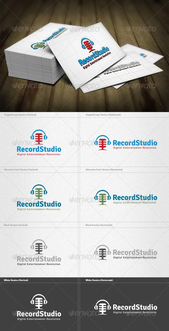 GraphicRiver Record Studio Logo 4262861