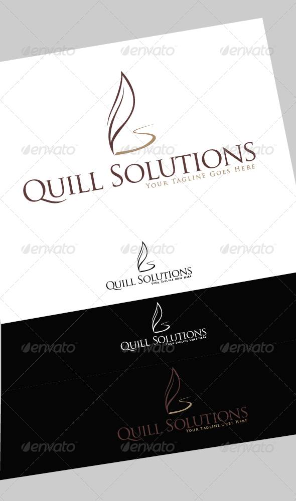 GraphicRiver Quill Solutions Logo 4262873