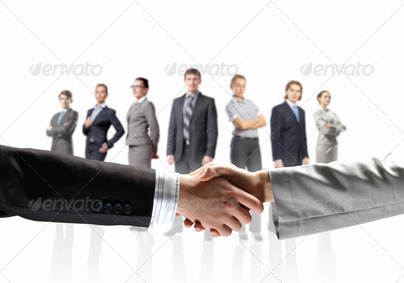 image of business handshake - Stock Photo - Images