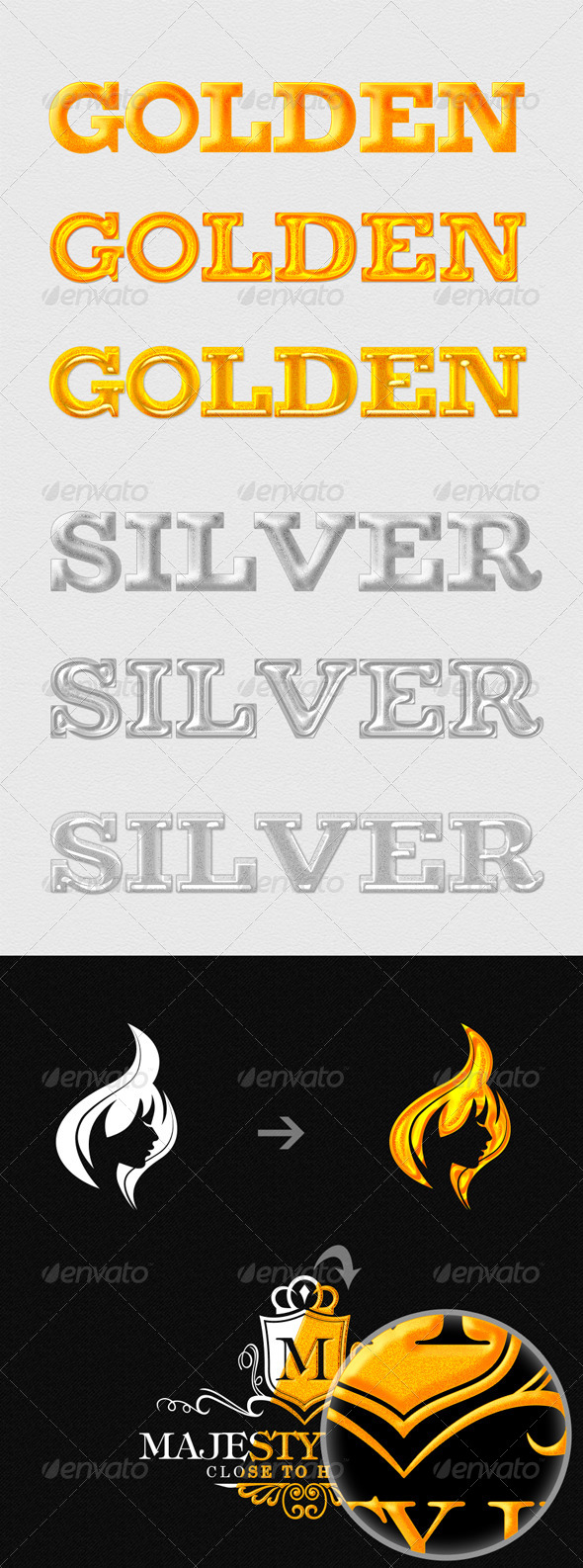 GraphicRiver 6 Golden and Silver Premium Styles 4262902
