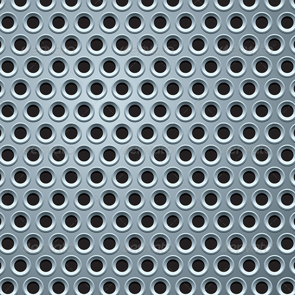 Perforated Metal Plate Seamless Pattern