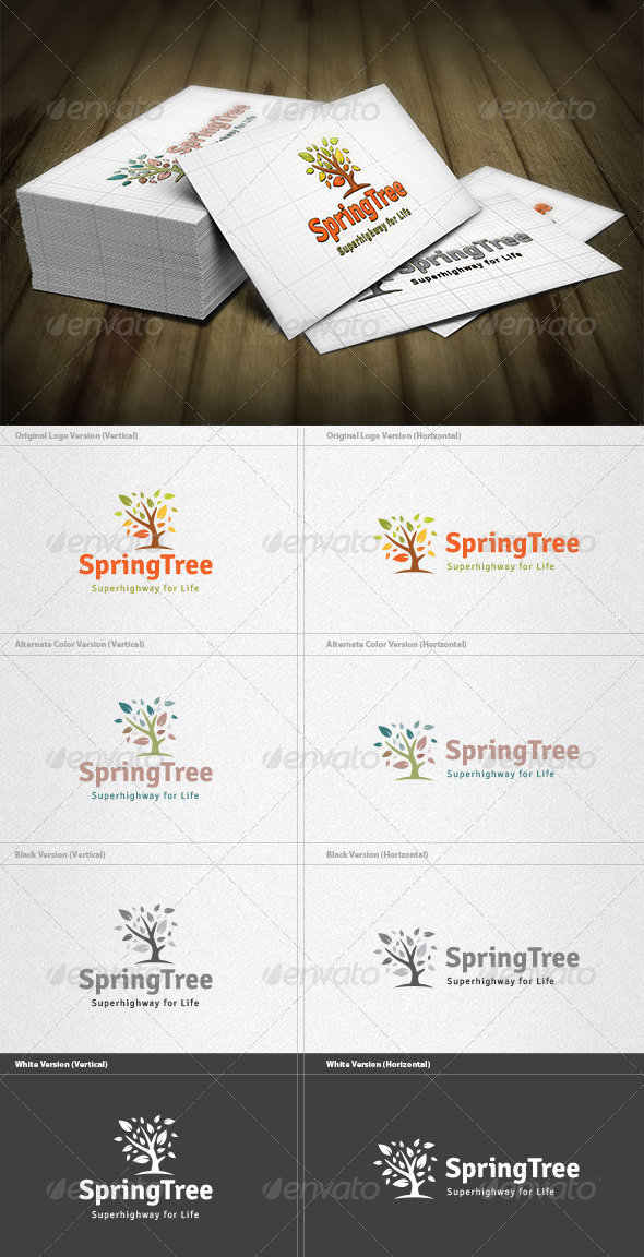 GraphicRiver Spring Tree Logo 4263194