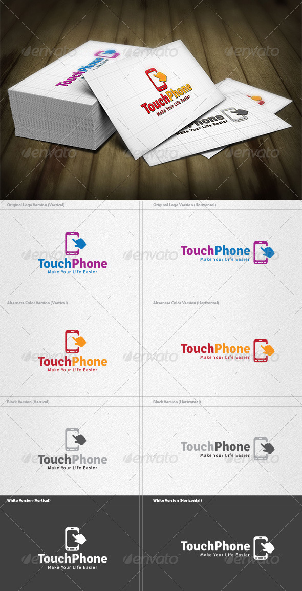GraphicRiver Touch Phone Logo 4263210