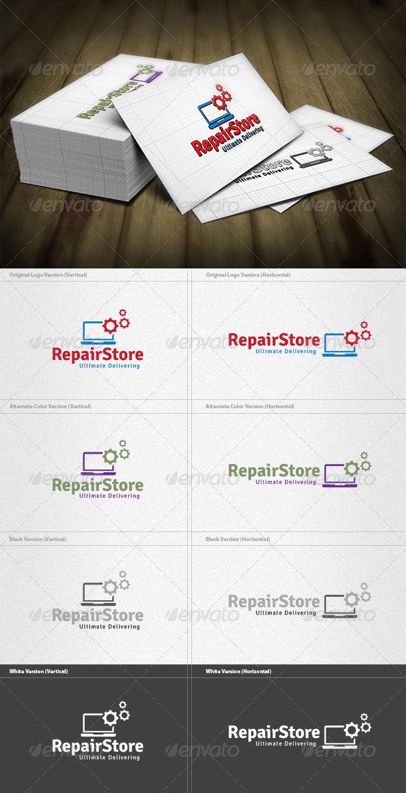 GraphicRiver Repair Store Logo 4263237