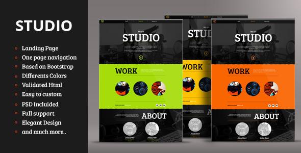 ThemeForest Studio Responsive Landing Page 4180900