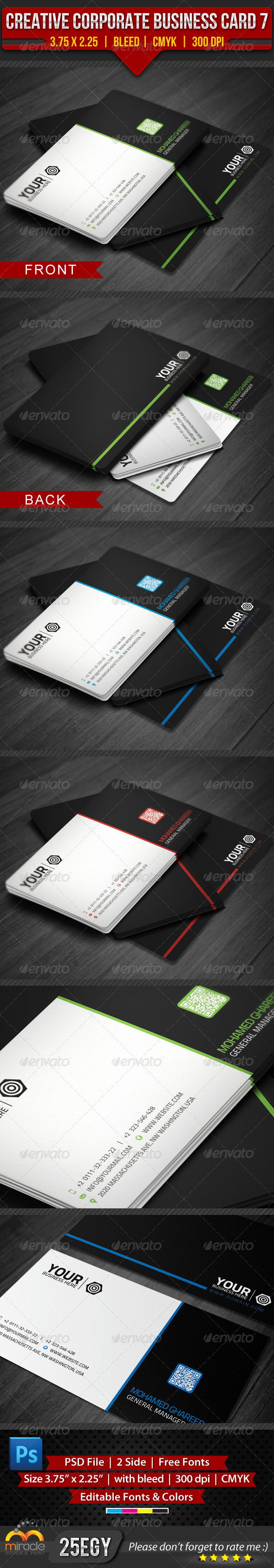 GraphicRiver Creative Corporate Business Card 7 4263658