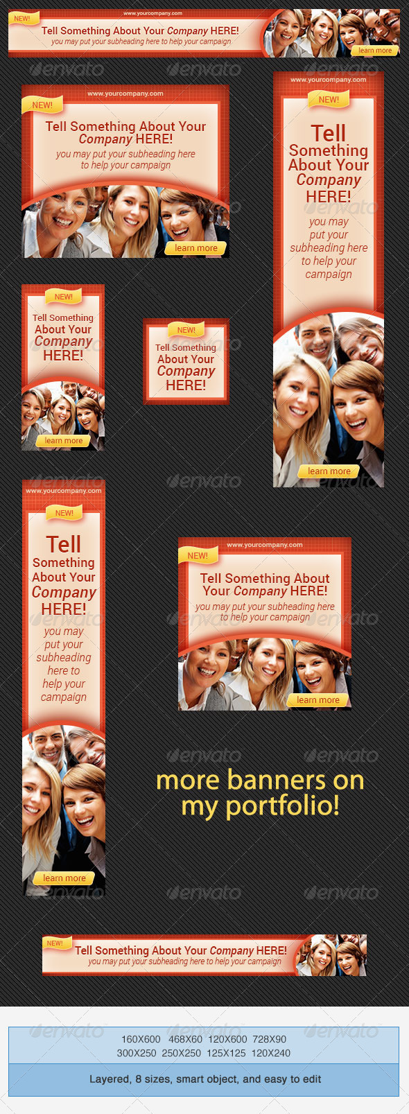 Corporate PSD Banner Ad Template 6