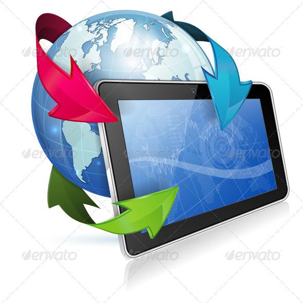 GraphicRiver Concept Internet News 4263705