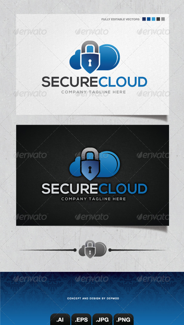 Secure Cloud Logo - Objects Logo Templates