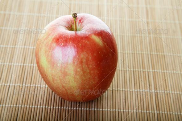 PhotoDune Gala Apple on Bamboo Mat 4265872