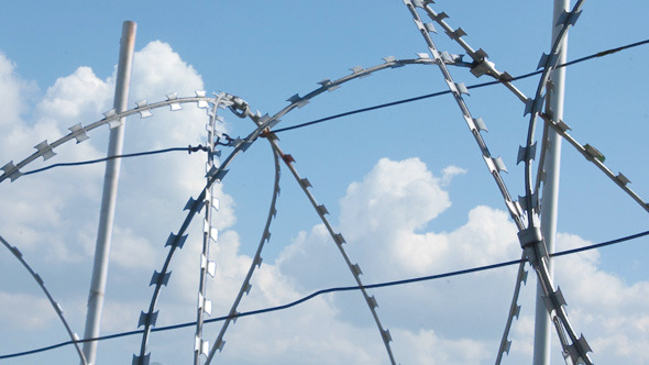 Sky Behind Barbed Wire 2