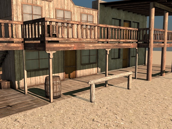 Western Building B - 3DOcean Item for Sale
