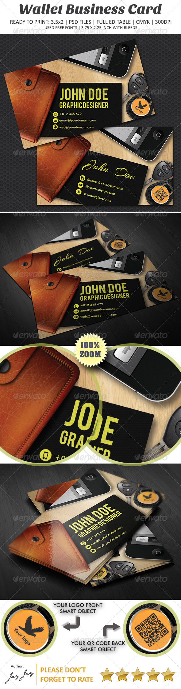 GraphicRiver Wallet Business Card 4077241