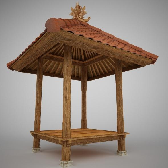 3DOcean Balinese Gazebo 1.5 x 1.5 m 4191142