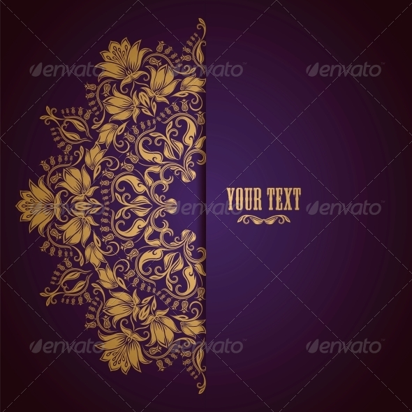 GraphicRiver Elegant Background with Lace Ornament 4264691