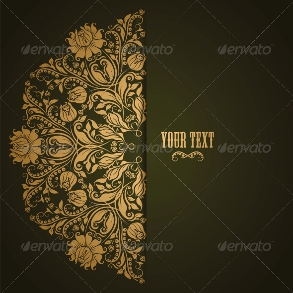 GraphicRiver Elegant Background with Lace Ornament 4264713