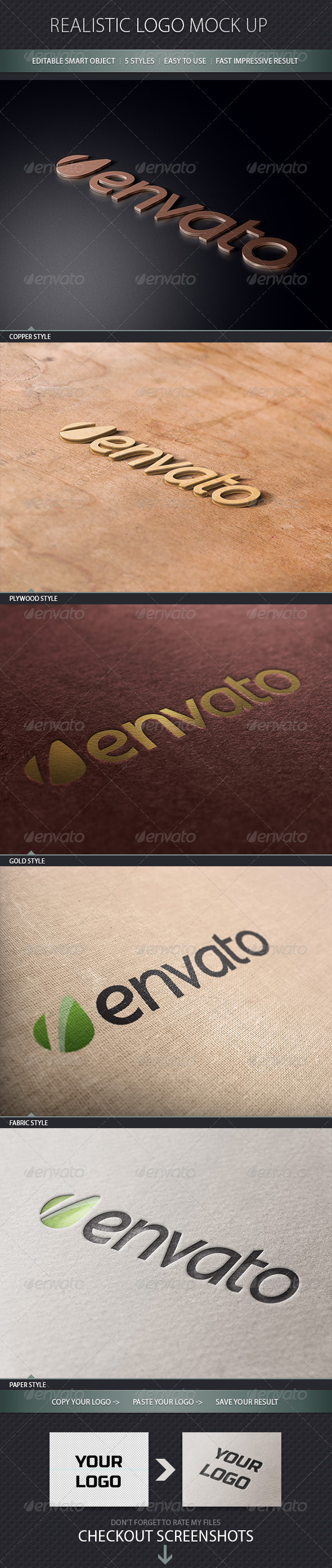 GraphicRiver Realistic Logo Mock Up 4265012