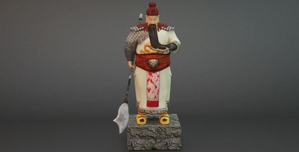 Low Poly Warrior - 3DOcean Item for Sale