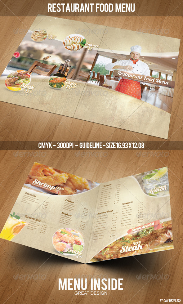 GraphicRiver Restaurant Food Menu Template 4265318