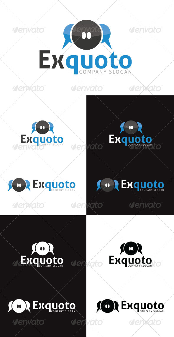 GraphicRiver ExQuoto Logo Template 4130025