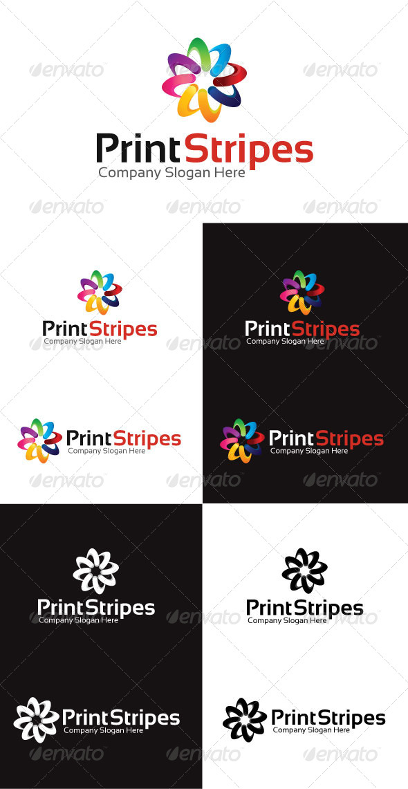 GraphicRiver Print Stripes Logo Template 4130257