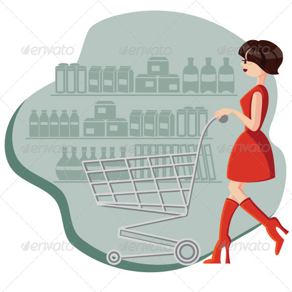 GraphicRiver Woman Shopping 4265411