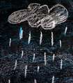 rain on a blackboard - PhotoDune Item for Sale