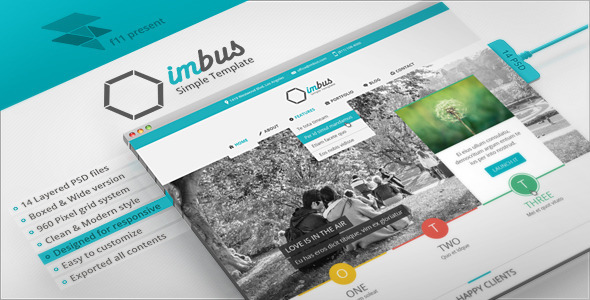 ThemeForest imbus Simple PSD Template 4265686