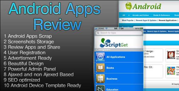 Android Apps Beoordeling Script - WorldWideScripts.net Item te koop